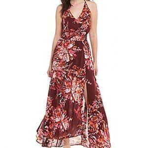 NWT Chelsea & Violet Burgundy Blush Maxi Dress